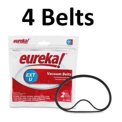 4 GENUINE Eureka Style U Extended Life 61120G Vacuum Cleaner Belts