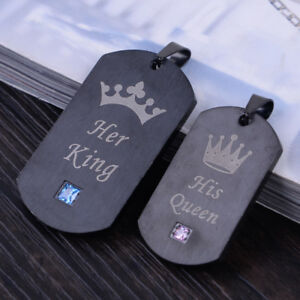 eb53e8188d Image is loading Titanium-HER-KING-HIS-QUEEN-Couple-Relationship-Crown-