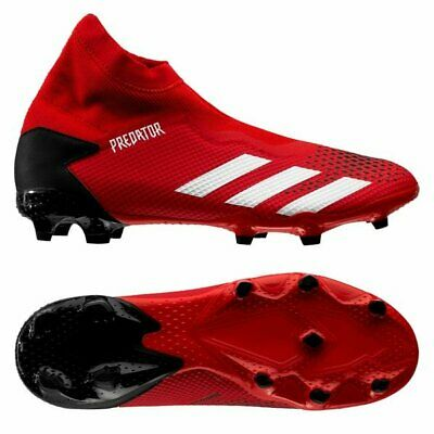 adidas Predator 20.3 FG 2020 Laceless Soccer Cleats Shoes New Red / Black | eBay