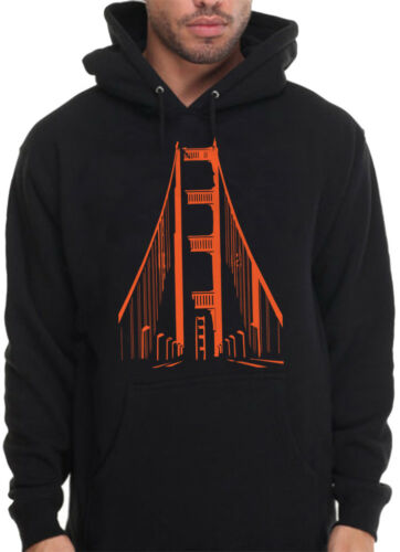 Men/'s Bay Golden Gate Bridge Hoodie Mission G Frisco SF San Francisco Sweatshirt