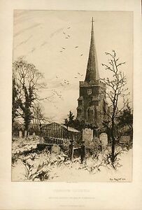 Harrow-Church-Engraving-By-Percy-Robertson-For-The-Art-Journal