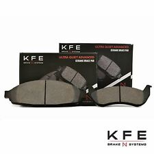 FRONT + REAR New Premium Ceramic Disc Brake Pad Set With Shims KFE931 KFE932