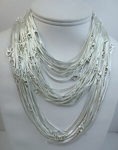 Strong Thin 020 Gauge Flexible 925 Sterling Silver Snake Chain Necklace For Women For Men Made In Italy 16 18 20 Inch