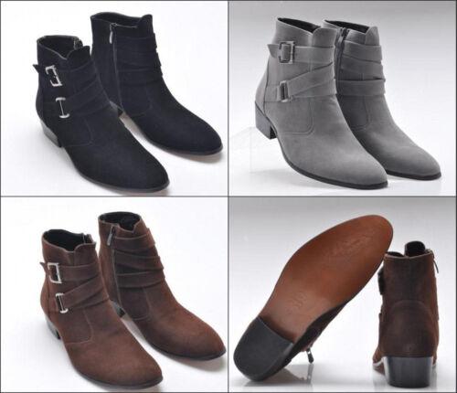 zip Stivali Stivali pelle laterale in punta eleganti casual caviglia Chukka alla scamosciata a da uomo con ABRx7THqwA