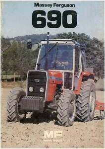 Mf 690 Operators Instruction Book Business, Office & Industrial Other Tractor Publications