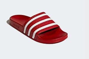 san francisco 79c0c 6e254 Image is loading Adidas-Originals-adilette-Slides-Women-039-s-Red-