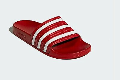 Adidas Originals Adilette Slides Women's Red Uk 4 New Beach And Pool Sandals Dinge Bequem Machen FüR Kunden