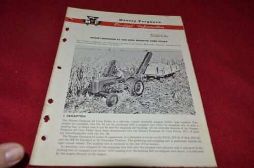 Massey Ferguson 61 Corn Picker Product Information Dealer/'s Brochure SMPA