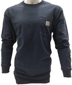 Carhartt-Men-039-s-K126-Long-Sleeve-Workwear-Crewneck-T-Shirt-Multiple-Colors