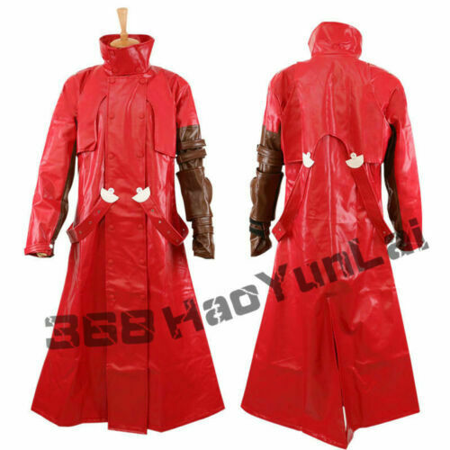 Hot! Red Trigun Vash the Stampede Cosplay Costume Outfit For Halloween