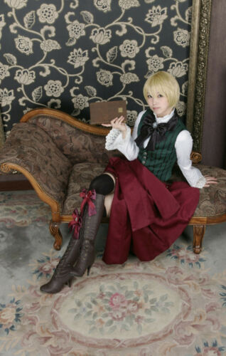 Wig Black Butler Kuroshitsuji Alois Trancy cosplay Costume uniform socks