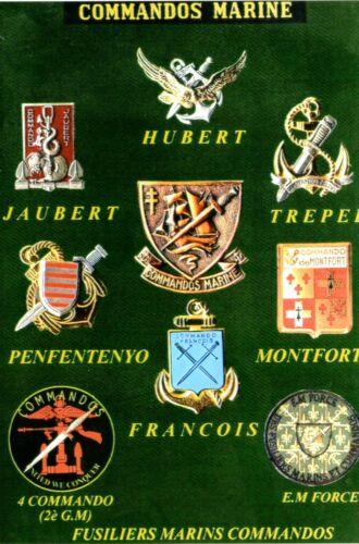 Insignes des Commandos Marine et Fusiliers marins commandos Militaria