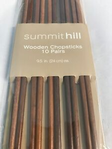 Summithill-Wooden-Chopsticks-10-Pairs-9-5-In-Ea