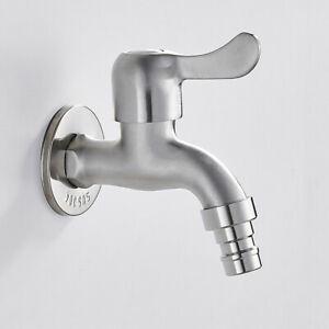 Brushed-Brass-Bathroom-Water-Taps-Faucet-Basin-Taps-Wall-Mounted-Toilet-Home-Use