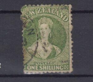 New-Zealand-QV-1864-1-Green-SG125-Fine-Used-J7308