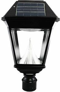 087e29bc0 Gama Sonic Outdoor Post Light Integrated LED Solar Powered Weather ...