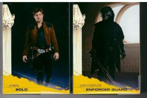 2018 TOPPS SOLO A STAR WARS STORY 100 CARD YELLOW PARALLEL SET SURPRISE ITEM