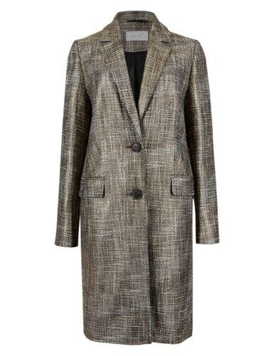 rrp £129 PER UNA Tailored METALLIC COAT ~ Various Sizes ~ GOLD Mix