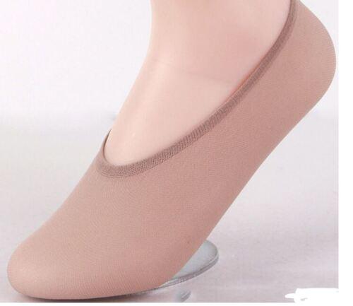 Women Ladies Sheer Nylon Invisible No Show Footsies Shoe Liner Trainer Thin UK