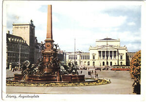 AK-Leipzig-Augustusplatz-Farbdruck-1941