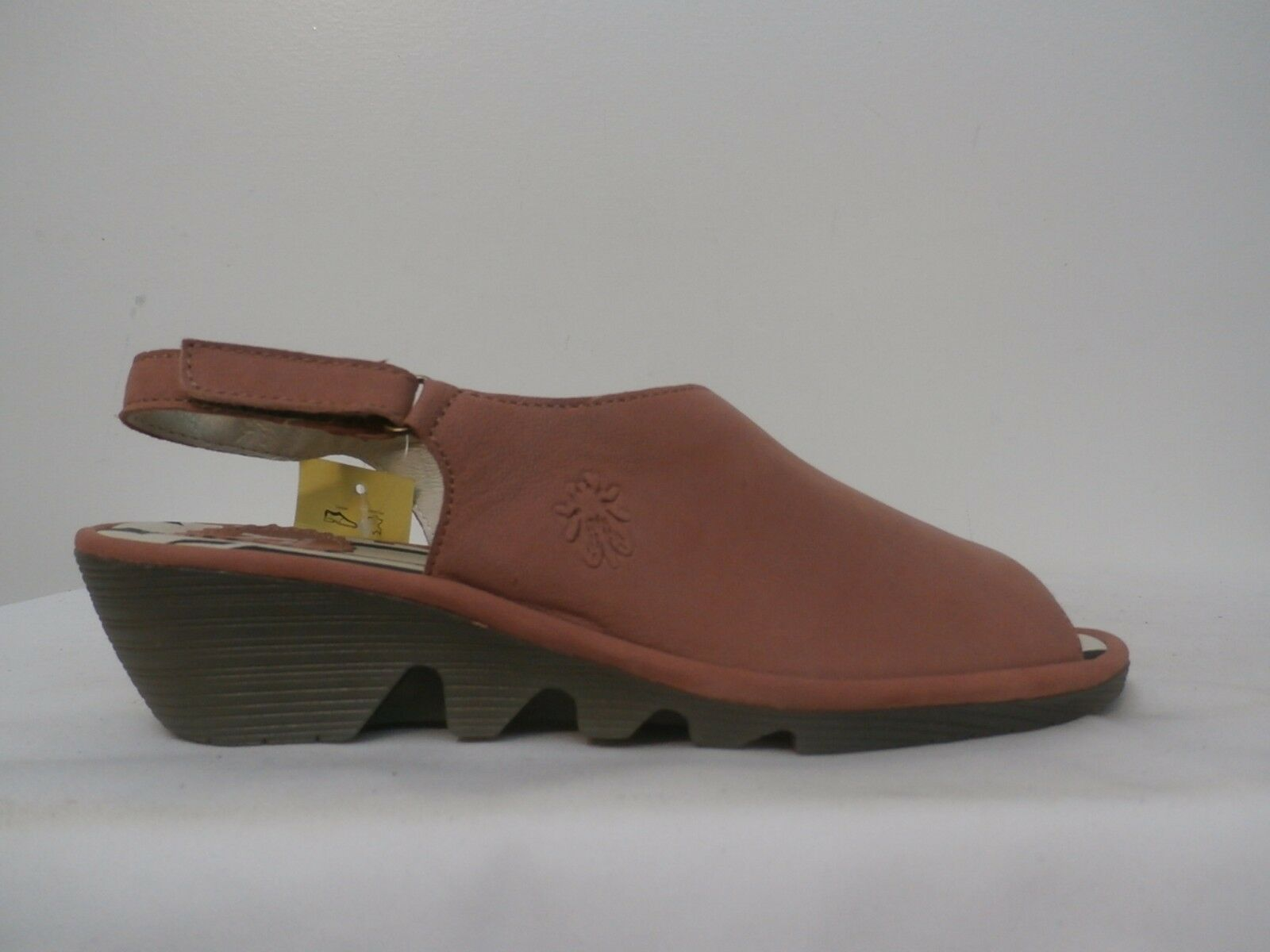 FLY London Leather Slingback Wedges - Palp pink Size 39 (8-8.5 US)