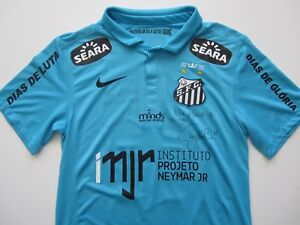 the best attitude da654 9ccf0 Details about Nike 2012-13 Santos Brasil Neymar Player Issue Match Worn  Signed Soccer Jersey S
