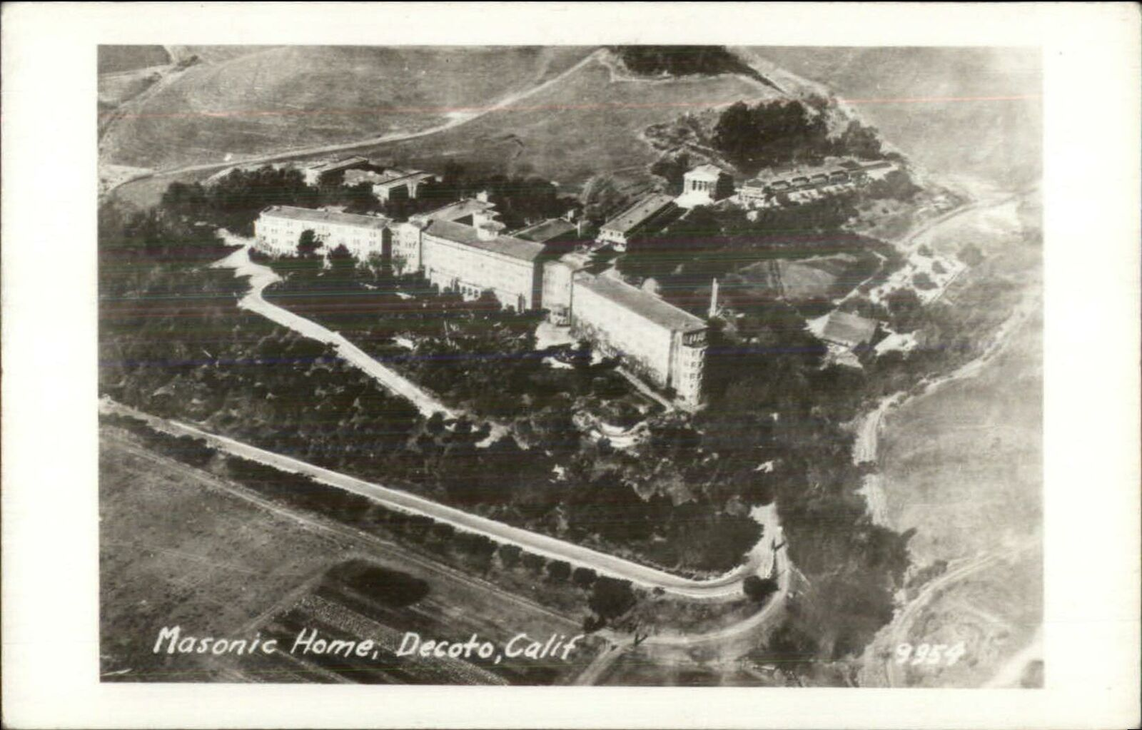 Decoto CA Masonic Home Old Real Photo Postcard