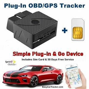 🛰️ GPS Car Tracker, Sim Card & Phone Apps Just PLUG-IN for Real-Time Tracking