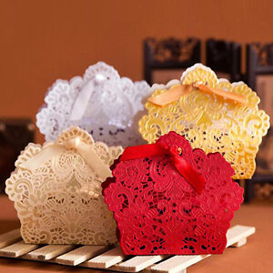 50-100pcs-Paper-Boxes-With-Ribbon-Laser-Cut-Cake-Candy-Gift-Wedding-Party-Favor