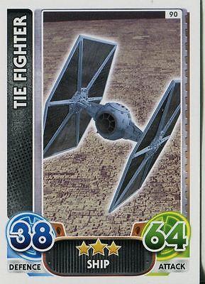 Star Wars Force Attax Force Awakens Set 1 #118 Tie Fighter Pilot