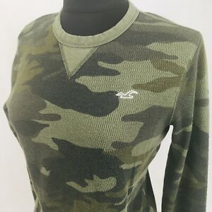 Hollister Women's Long Sleeve Camo Thermal Shirt Size Small S