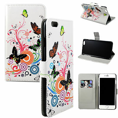 Cute Butterfly Leather Cover Pocket Flip Case Skin For Apple iphone 6 Plus 5.5""