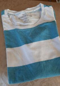 SMOG-COMPANY-Herren-Shirt-hellblau-tuerkis-weiss-gestreift-Gr-XS