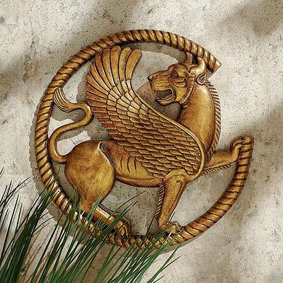 PERSIAN GRIFFIN WALL SCULPTURE DESIGN TOSCANO egyptian  egypt  persia  persian