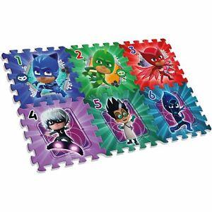 Officiel-Pj-Masks-Mousse-Jeu-Tapis-6-Pieces-Puzzle-Garcons-Super-Heros