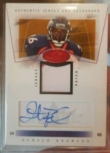 2004 Fleer TATUM BELL Rookie/Auto/patch/50.  DENVER BRONCOS