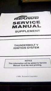 1994 mercruiser service manual supplement thunderbolt v ignition rh ebay com mercury thunderbolt ignition manual mercury thunderbolt ignition manual