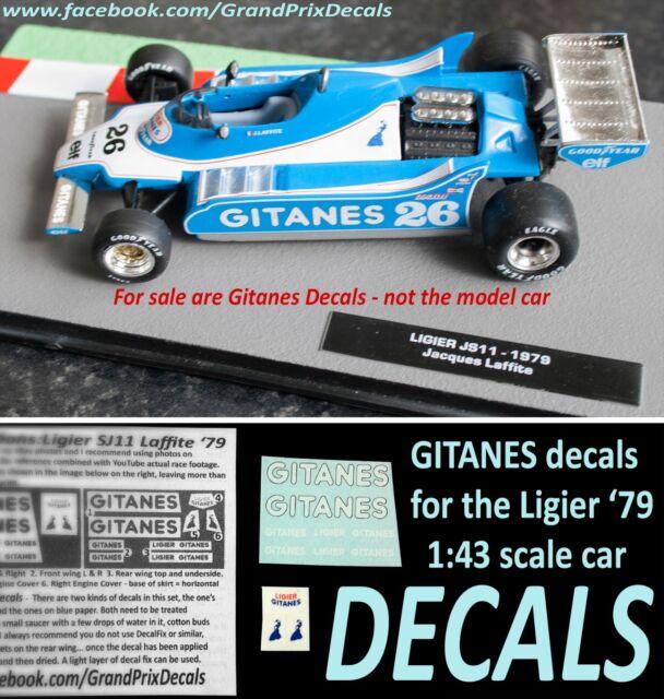 F1 DECALS KIT 1//43 LIGIER JS 11 F1 1979 DEPAILLER-LAFITTE 1//43 DECALS