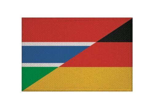 Un écusson GAMBIE-Allemagne Drapeau Drapeau Aufbügler patch 9 x 6 cm