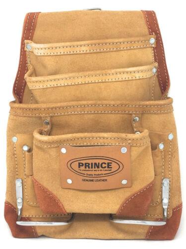 Prince Genuine Suede Leather 10 Pocket Tool Holder