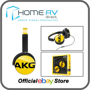 AKG-Y50-Headphones-with-Apple-remote-amp-Mic-for-iPhone-5-6-6S-Yellow-BRAND-NEW