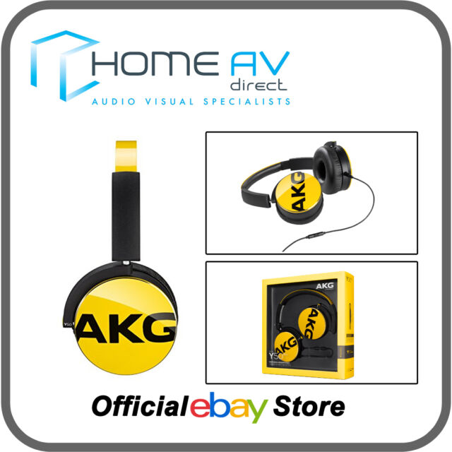 AKG Y50 Headphones with Apple remote & Mic for iPhone 5 6 6S Yellow - BRAND NEW