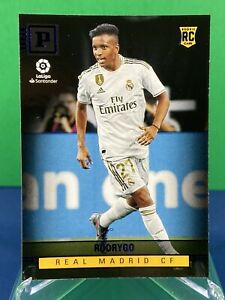Rodrygo-2020-Panini-Chronicles-Blue-Foil-Parallel-SP-Rookie-RC-375-Real-Madrid