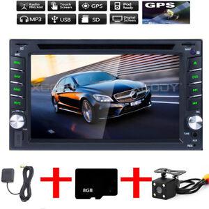 Autoradio-Navigation-MIT-Doppel-2DIN-GPS-Navi-Bluetooth-USB-MP3-DVD-CD-SD-6-2-039-039