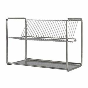Ikea ordning stainless steel kitchen dish drainer rack for Ikea plate storage