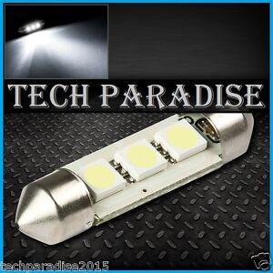 1x Ampoule 31mm C3W C5W C7W C10W LED 3 SMD Blanc White plaque Navette Festoon