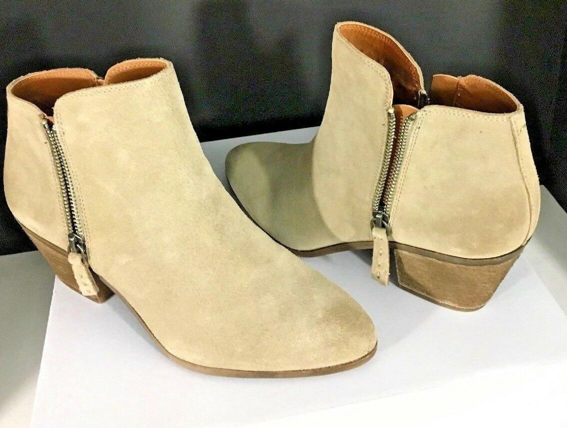 NEW Frye & Co. Womens 8.5 M Holly Zip Bootie Ash Suede Ankle Boots