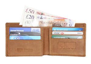 bff0aeaa257b Details about Starhide Mens RFID BLOCKING Distressed Hunter Brown Genuine  Leather Wallet 1145