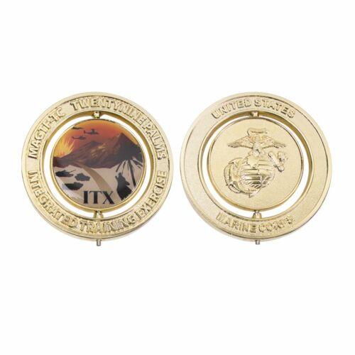 "2/"" MARINE CORPS 29 PALMS ITX LOGO MARINE CORPS SPINNER COIN"