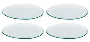 4x HAND MADE OVAL glass dinner plates serving trays 30x26x2.5cm MANILA